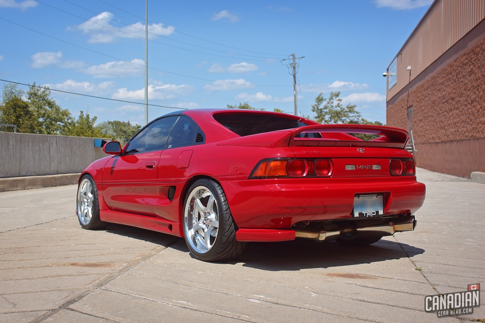 Toyota MR2 wearing a traditional paint sealant