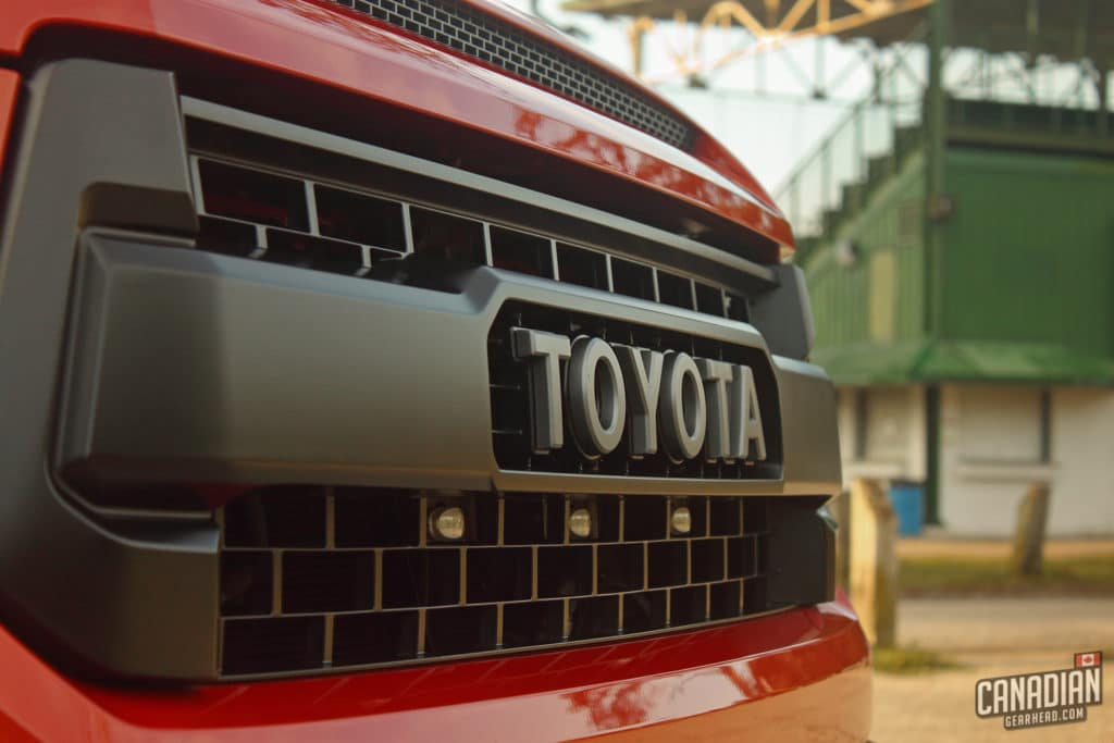 Tundra TRD Pro grill with raptor lights